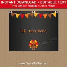 thanksgiving signs printable sign template digital
