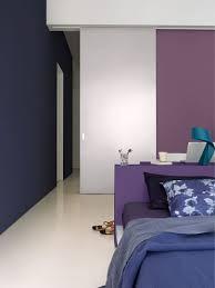 peinture violette chambre peinture déco couleur foncée noir gris violet peinture