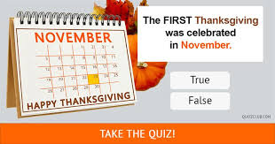are these 10 thanksgiving myths or thanksgiving truths trivia quiz