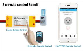 wifi controlled light switch automatic light switch sonoff and slher