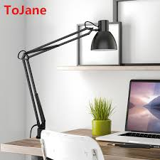 Swing Arm Desk Lamp With Clamp Aliexpress Com Buy Tojane Tg801 S Clip Desk Lamp Flexible Long