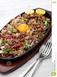 cuisine philippine sisig de porc cuisine philippine image stock image 80685113