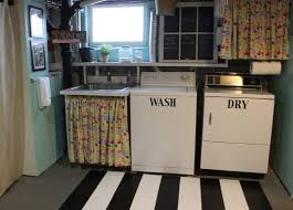 Laundry Room Curtain Decor Great Ideas On How To Update A Laundry Room In A Basement