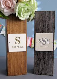 monogram wedding gifts susabella monogrammed fruitwood vase custom wedding gift