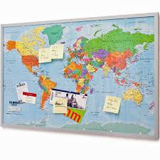 Cork World Map by Pin Board Bulletin Board Xxxl 120x80cm 2 Sided World Map And