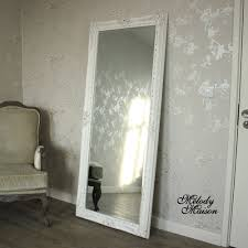 Bevelled Floor Mirror by Large Ornate White Wall Leaner Mirror 176cm X 76cm Floor Mirror