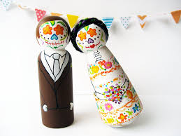 day of the dead cake toppers day of the dead wedding cake toppers