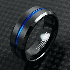 blue titanium wedding band mens black and blue wedding bands wedding black wedding ring men