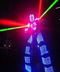 laser light show miami led light up robot stilts dancers a party