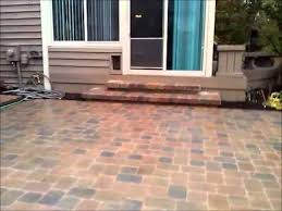 Concrete Patio With Pavers Veneering A Older Concrete Patio With Pavers And Building New