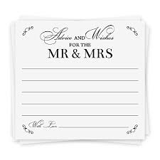 Wedding Wishes And Advice Cards Wedding Wishes Cards Amazon Com