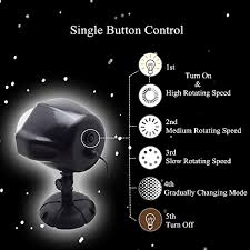 christmas lights that look like snow falling gaxmi christmas projector light led snow falling night lights white