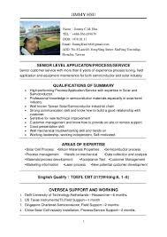 English Resume Sample by Jimmy Hsu English Resume
