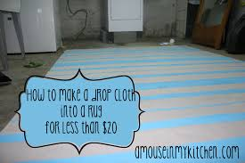 How To Make A Area Rug by How To Make A Drop Cloth Rug For Cheap A Mouse In My Kitchen