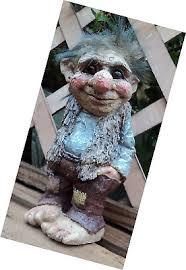 best trevor the troll gnome garden gift ornament statue lawn