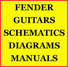 fender guitar manual wiring diagram schematics parts cd for sale