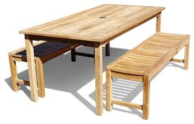Outdoor Dining Set With Bench 71x35
