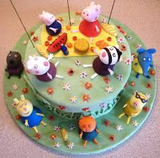 and friends cake peppa pig and friends birthday cake cakecentral