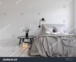 Blank Bedroom Wall Ideas 3d Rendering Unmade Bed Room Blank Stock Illustration 520477222
