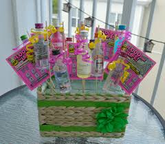 gift basket ideas for raffle booze basket nic on the net