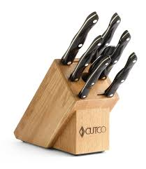 set of kitchen knives galley set with block 9 pieces knife block sets by cutco
