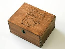 engraved memory box personalized baby memory box baby keepsake box monkey memory box