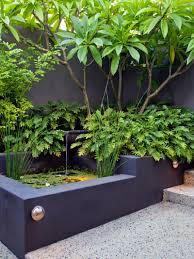 Garden Corner Ideas Custom Tropical Small Water Garden Patio In The Corner Best Plus