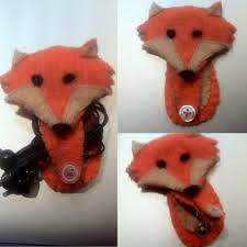felt fox earphone holder first of many crafts for gifts cable