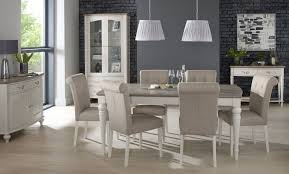 Buy Bentley Designs Montreux Grey Washed Oak And Soft Grey Dining - Grey fabric dining room chairs