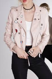 pink leather motorcycle jacket best 25 faux leather jackets ideas on pinterest women u0027s leather