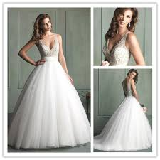 plunging neckline wedding dress free shipping we 2334 beaded corset gown wedding dress