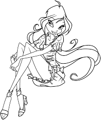 winx club sirenix coloring pages coloringstar