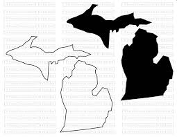 Michigan State Map Michigan State Map Svg Png Jpg Vector Graphic Clip Art Michigan