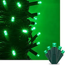 green outdoor christmas lights amazon com 100 count green christmas light set home improvement
