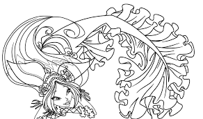 coloring pages for teenagers mermaid colorings pinterest