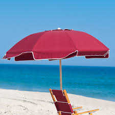 Beach Shade Umbrella Vacation Equipment Rentals Offers Both Wooden And Alumininum Beach