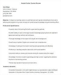 sample cvs for freshers sample resume for teachers freshers u2013 topshoppingnetwork com