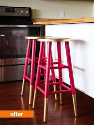 wood and metal bar stools diy adjustable height made of hardware