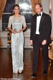 it u0027s jenny packham for paris black tie dinner what kate wore