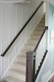 How To Refinish A Wood Banister Stair Banister Renovation Using Existing Newel Post And Handrail