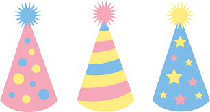 birthday hats pastel colored birthday party hats free clip