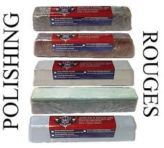 5 polishing compound rouges colors black brown white green blue