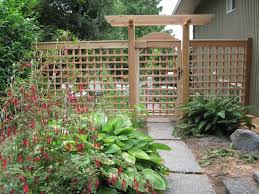 Garden Trellis Design by Interesting Idea Make A Fence Out Of Trellis Material And Then