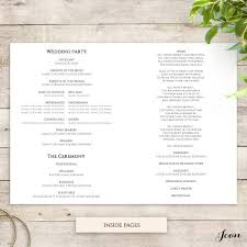 printable wedding program templates modern order of service printable template with border connie joan