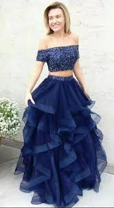 navy blue dress two pieces prom dress navy blue prom dress prom dresses for