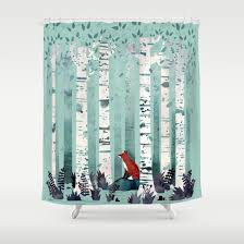 Shower Curtains by The Birches Shower Curtain By Littleclyde Society6