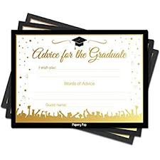 words for graduation cards graduation party advice cards for the graduate set