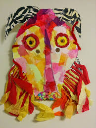 mask theater and mask making workshops for schools