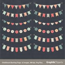 chalkboard halloween cat clear background chalkboard bunting flags clipart bunting set