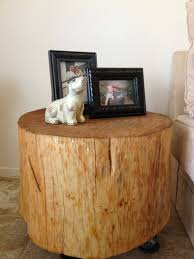 end table decor stump coffee table